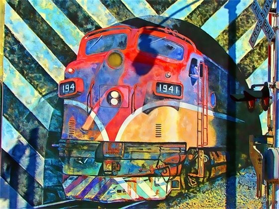 Train Mural in Downtown Fort Pierce