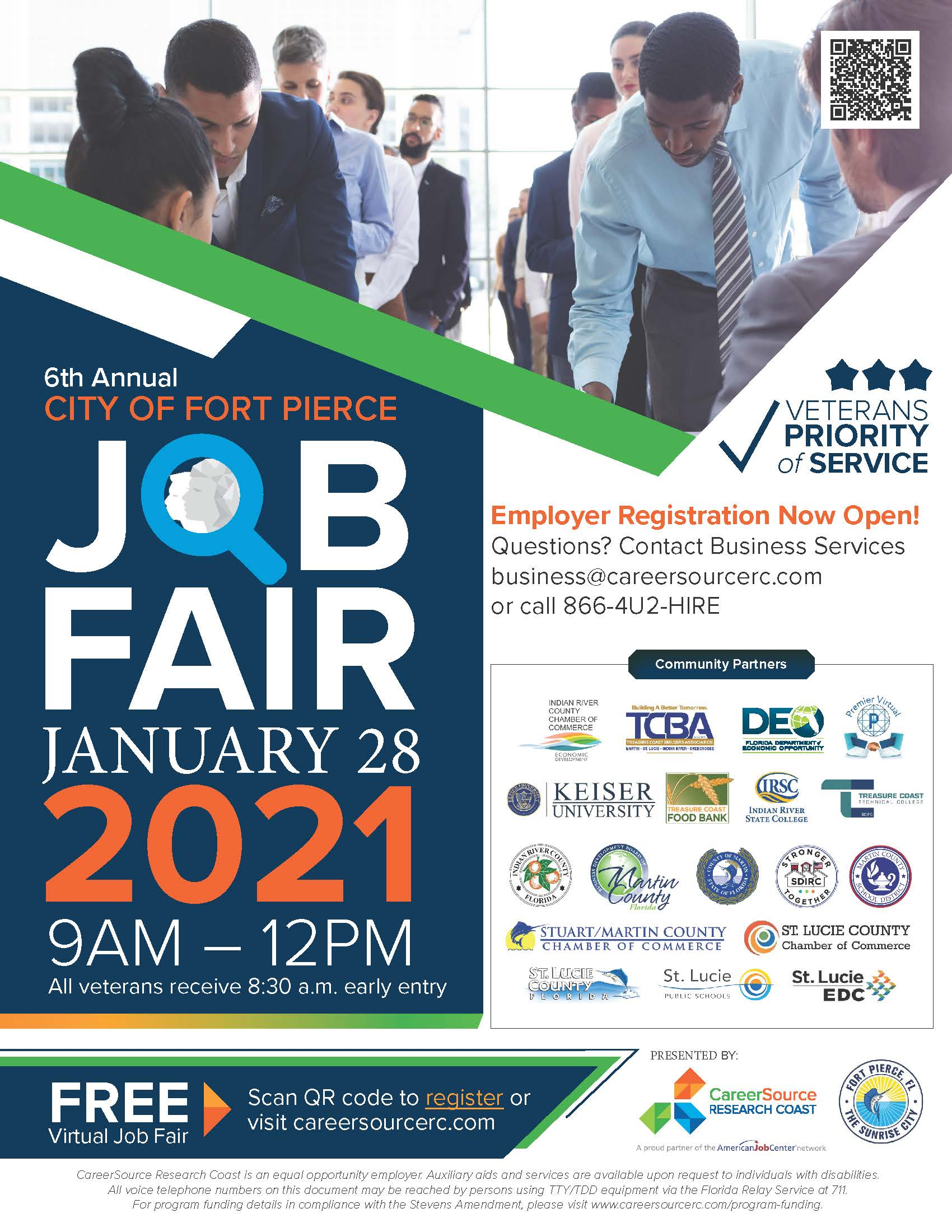 Sixth Annual City of Fort Pierce Job Fair Employer Flyer