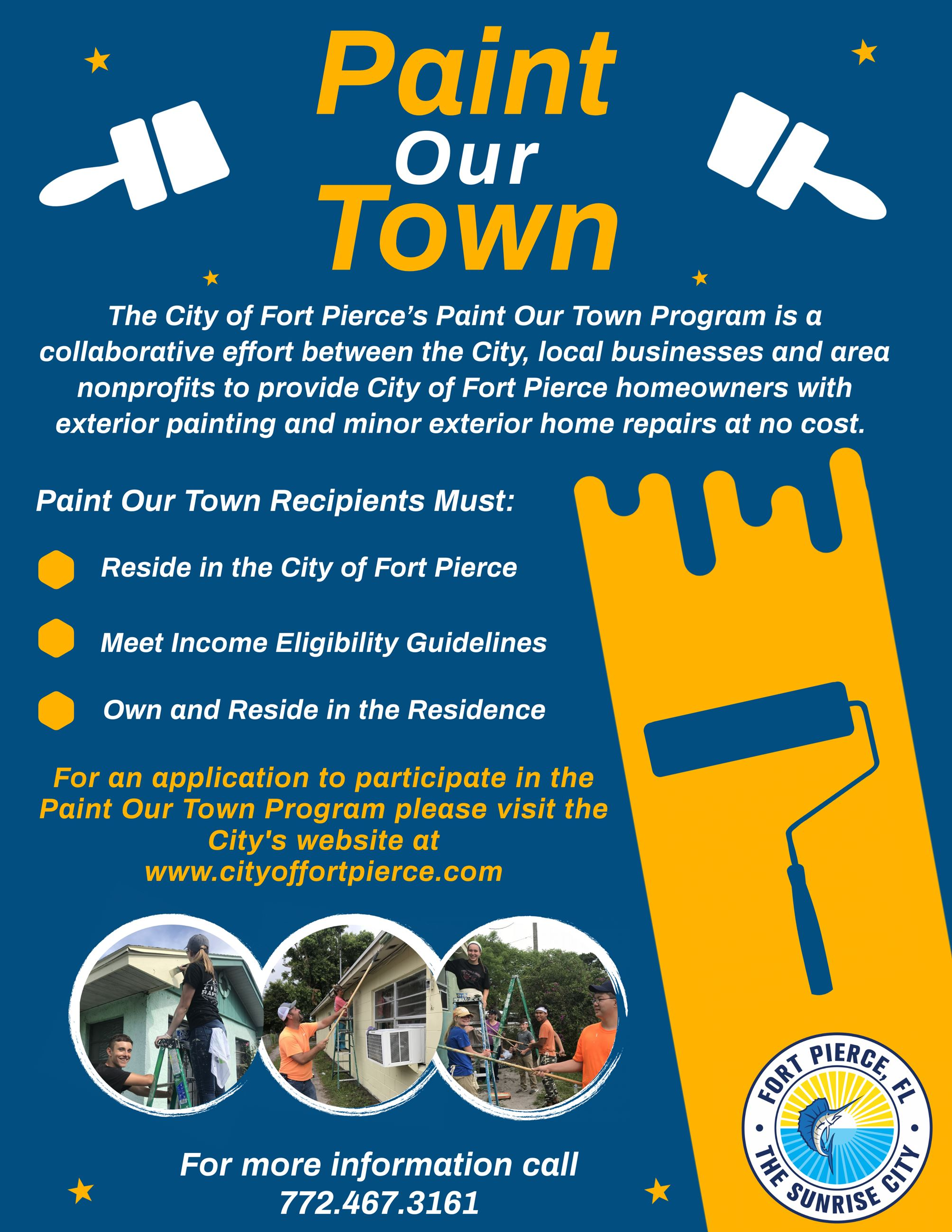 Paint Our Town - Residence Flyer