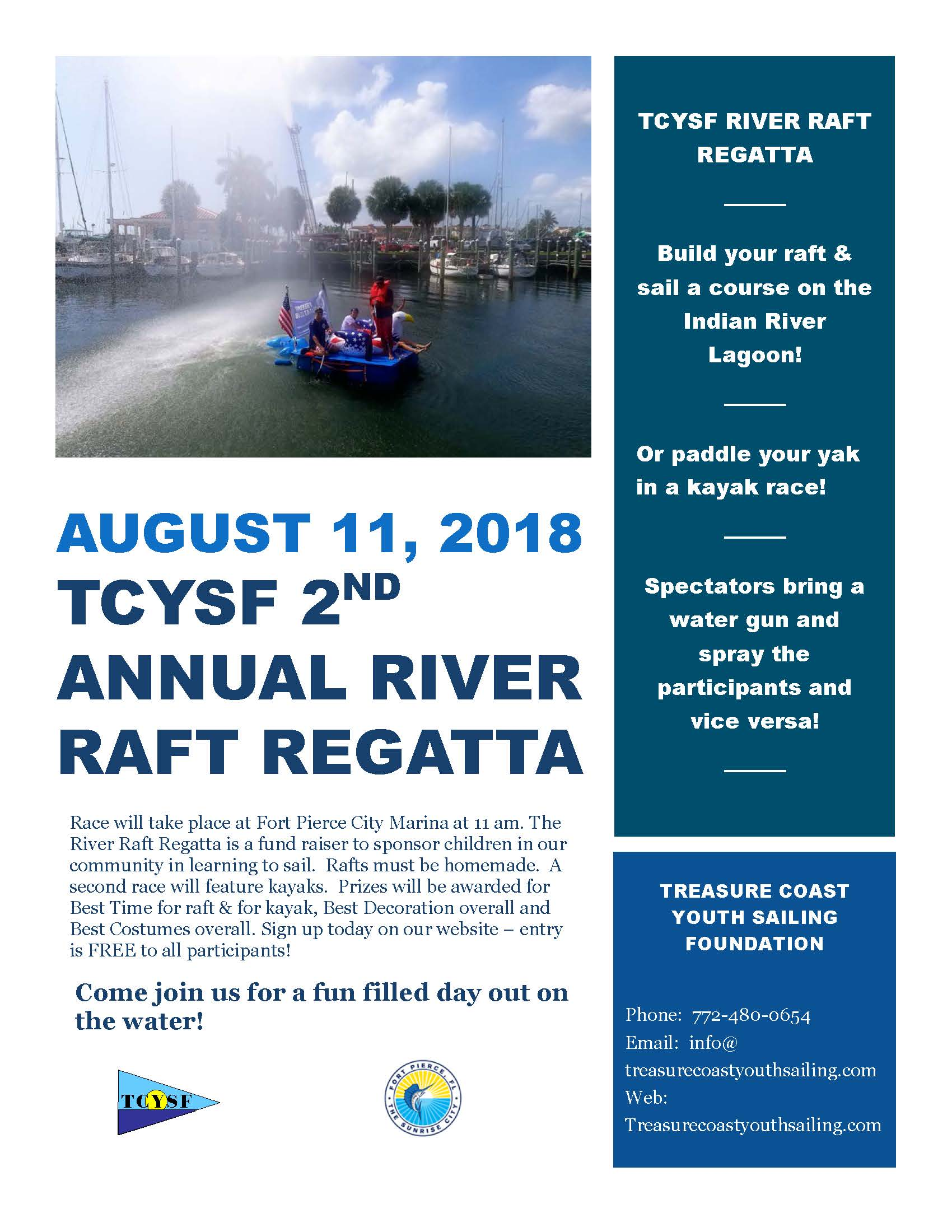 2018 2ND ANNUAL RAFT RACE FLYER