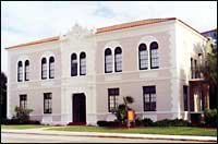 Historic stone building in Fort Pierce Florida