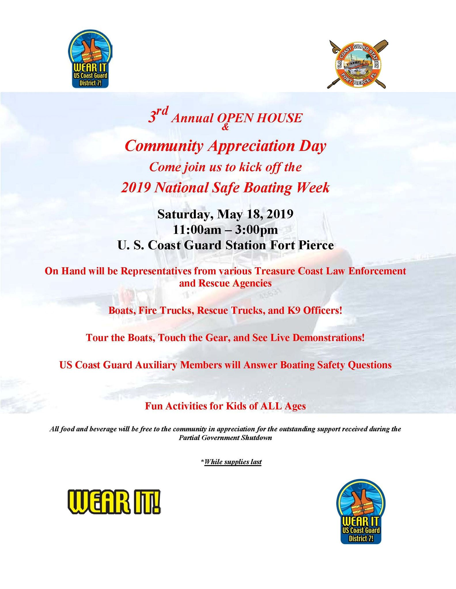 Coast Guard Open House Flyer