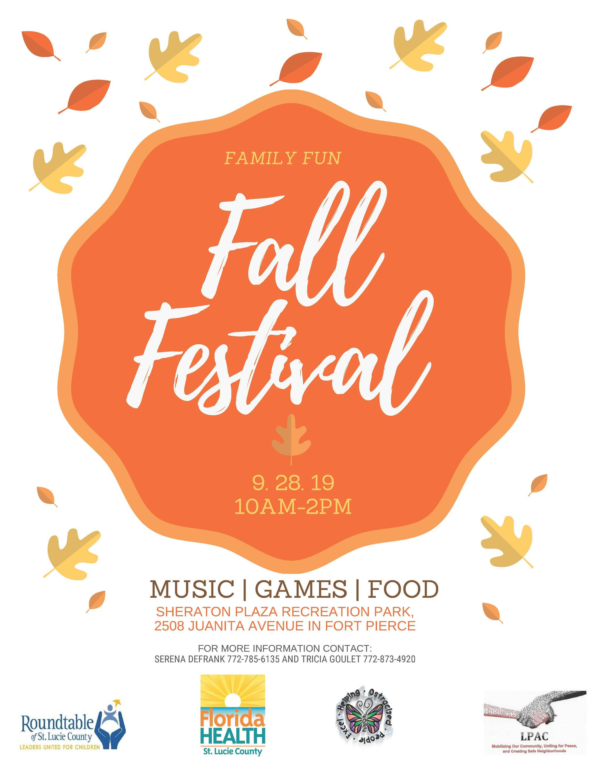 LPAC fall festival day September 28th
