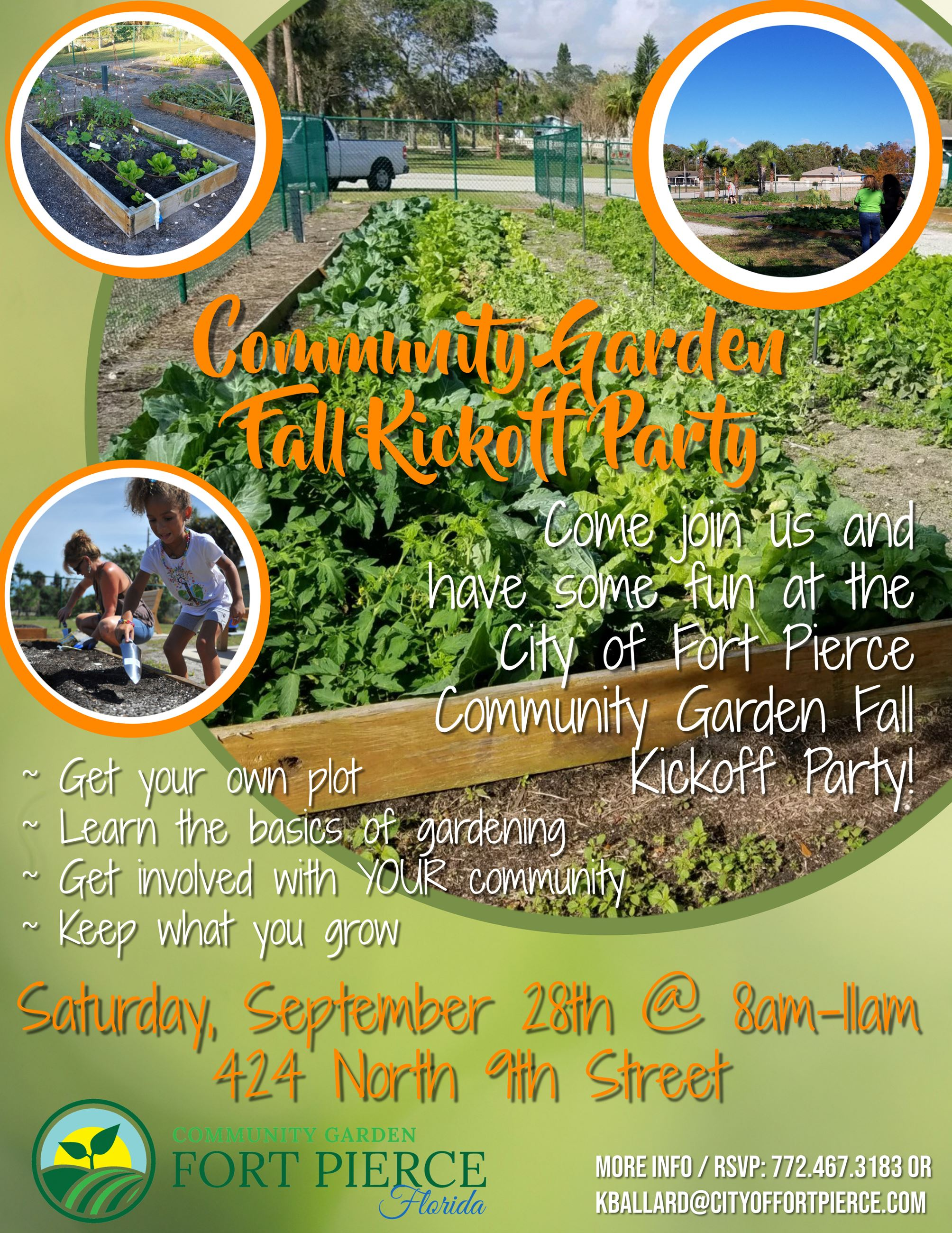 Community Garden Fall Kickoff Party 9.28.2019