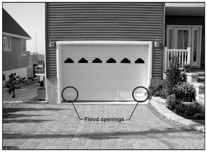Flood openings in garage
